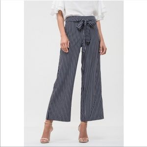Blu Pepper Pants - BLU PEPPER Striped Wide Leg Pants NWT